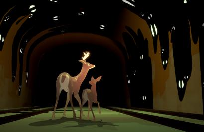 Way to the Woods: игра о двух оленях, которые ищут путь домой в пост-человеческом мире с котом в роли бога